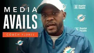 Coach Flores on preparations for #MIAvsNYJ | Miami Dolphins Media Avails