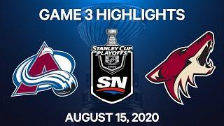 NHL Highlights | 1st Round, Game 3: Avalanche vs. Coyotes – Aug. 15, 2020