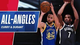 All-Angles: Stephen Curry & Kevin Durant's CLUTCH Threes In Their Respective Wins!
