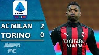 Milan bounce back from Juventus loss with 2-0 win vs. Torino | ESPN FC Serie A Highlights