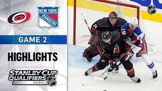 NHL Highlights | Rangers @ Hurricanes, GM2 - Aug. 3, 2020