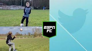 Amazing soccer skills by this youngster | #Shorts | ESPN FC