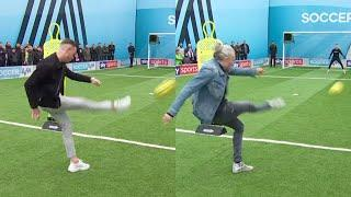 James Maddison vs Jimmy Bullard | Outside the Box Shooting Challenge | You Know the Drill Live