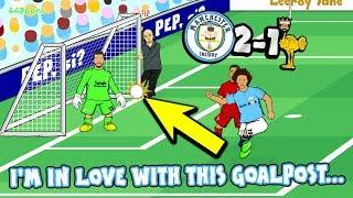 MAN CITY 2-1 LIVERPOOL! I'M IN LOVE WITH THESE GOALPOSTS! (Goals Highlights Sane Aguero Goal Line)