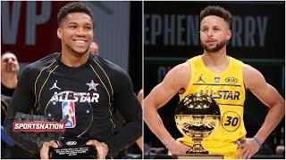 SportsNation reacts to 2021 NBA All-Star: Team LeBron vs. Team Durant, Curry wins 3-point contest