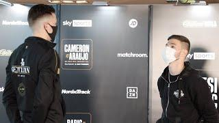 CHECK THE HEIGHT DIFFERENCE!!!!!! - THE PRO-DEBUT OF JOHN HEDGES - (PRESS CONFERENCE & HEAD-TO-HEAD)