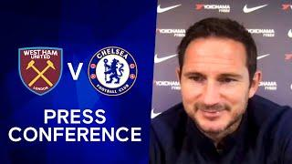 Frank Lampard on Declan Rice, Timo Werner & Hakim Ziyech plus Pulisic Injury | West Ham v Chelsea