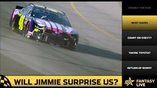 Fantasy Live: Will Jimmie Johnson surprise us?