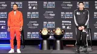 LIVE ON CHANNEL 5 IN THE UK! - GERVONTA DAVIS v LEO SANTA CRUZ (FULL & OFFICIAL) PRESS CONFERENCE