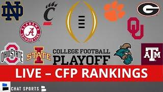 CFP Rankings LIVE – Top 25 Teams In 2nd-To-Last 2021 College Football Playoff Rankings