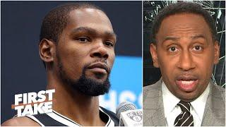 Stephen A. reacts to the Nets' GM saying Kevin Durant's return is the '$110M question' | First Take