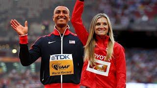 Ashton Eaton and Brianne Theisen-Eaton react to the Heptathlon and Decathlon