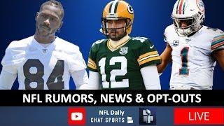 NFL News & Rumors On Aaron Rodgers' Future, Antonio Brown, Tua Starting + Live Q&A