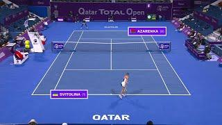 Elina Svitolina vs. Victoria Azarenka | 2021 Doha Quarterfinals | WTA Match Highlights