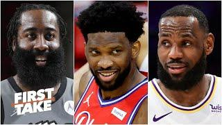 Stephen A. and Max debate the NBA MVP race: James Harden, Joel Embiid and LeBron   First Take