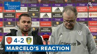 """""""The two halves were very different""""   Marcelo Bielsa reaction   Arsenal 4-2 Leeds United"""