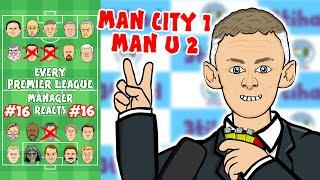 MAN UNITED beat MAN CITY! #16 Every Premier League Manager Reacts! 19/20