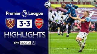 Gunners fight back from 3-0 down to earn draw!   West Ham 3-3 Arsenal   Premier League Highlights