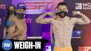 Emanuel Navarrete & Ruban Villa Make Weight, Title Fight Official Friday on ESPN | FULL WEIGH IN