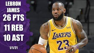 LeBron James records triple-double for Lakers vs. Spurs [HIGHLIGHTS] | NBA on ESPN