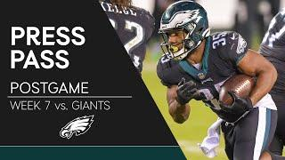 Eagles Players React to Comeback Win Over Giants | Eagles Press Conference
