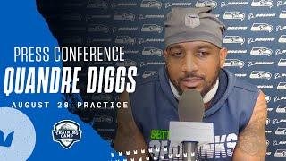 Quandre Diggs 2020 Training Camp August 28th Practice Press Conference