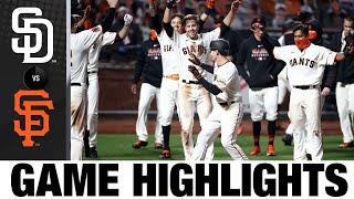 Mike Yaztsremski wins it for the Giants on a walk-off HR   Padres-Giants Game Highlights 7/29/20