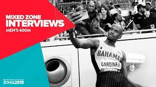 Men's 400m Interviews | World Athletics Championships Doha 2019