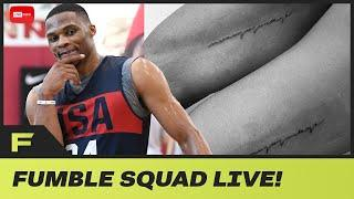 """Russell Westbrook Got His 1st Tattoo!  Says """"nonojojoskye"""" His Kids Names! Fumble Live!"""