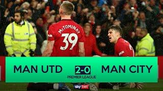 Manchester United 2-0 Manchester City | United complete Manchester derby double