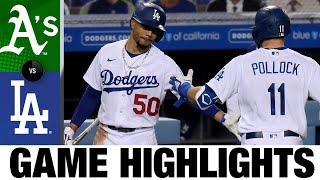 Dodgers top A's, clinch eighth straight NL West title | A's-Dodgers Game Highlights 9/22/20
