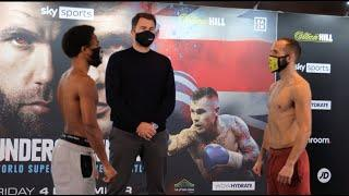 BILLY JOE SAUNDERS' BOY! - DONTE DIXON v ANGELO DRAGONE - OFFICIAL WEIGH IN WITH EDDIE HEARN
