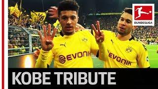 Jadon Sancho Pays Tribute to Kobe Bryant and Breaks Record