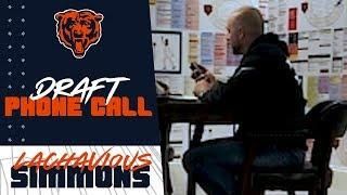 "Behind the Scenes | Lachavious ""Pig"" Simmons finds out he's a Chicago Bear"