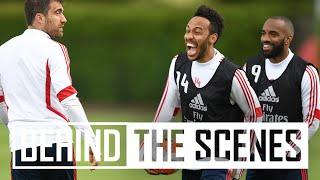 SOKRATIS SCORES A WORLDIE!   Behind the scenes at Arsenal Training Centre