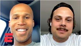 Auston Matthews relives his NHL draft, first year in NHL with Richard Jefferson on IG Live | ESPN