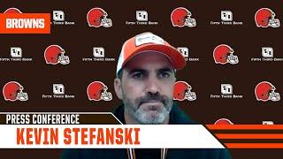 """Kevin Stefanski: (On Baker Mayfield) """"We're taking it day by day here. He's feeling good today."""""""