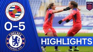 Reading 0-5 Chelsea | Super Fran Kirby Nets Four In Thumping Win | Women's Super League Highlights