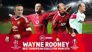 Wayne Rooney's best Champions League and Europa League goals for Manchester United