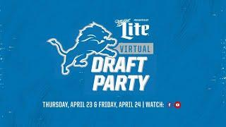 2020 Detroit Lions Virtual Draft Party | Live reaction to D'Andre Swift pick