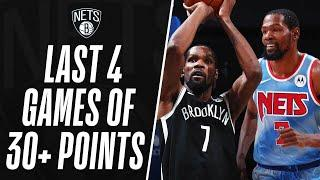 Kevin Durant's BEST MOMENTS From The Last 4 Games Of 30+ Points!