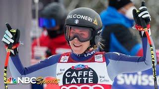 Sofia Goggia wins fourth straight World Cup downhill race to tie Lindsey Vonn's streak | NBC Sports