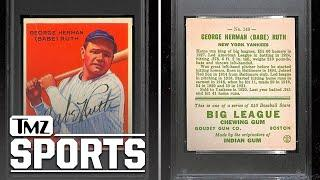 Babe Ruth Signed 1933 Card Smashes Auction Record, From 'Uncle Jimmy' Collection   TMZ Sports