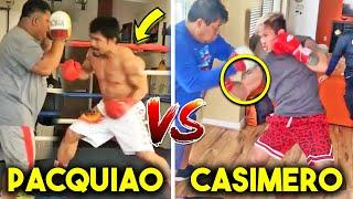PACQUIAO vs CASIMERO SPARRING, TRAINING SIDE BY SIDE- PADS, HEAVY BAG, STRENGTH AND CONDITIONING