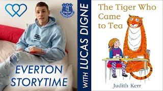 LUCAS DIGNE READS THE TIGER WHO CAME TO TEA | EVERTON STORYTIME