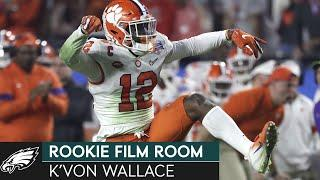Analyzing K'Von Wallace & His Instinctual Play at Clemson | Eagles Rookie Film Room