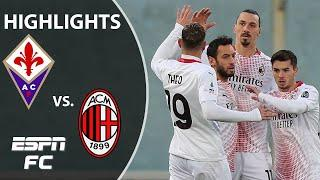 Zlatan Ibrahimovic scores in dramatic AC Milan win at Fiorentina | ESPN FC Serie A Highlights