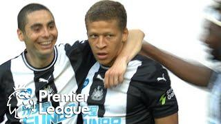 Dwight Gayle slides Newcastle into the lead v. Aston Villa | Premier League | NBC Sports