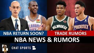 NBA Trade Rumors On Giannis, Devin Booker & CJ McCollum + Adam Silver 2020 NBA Season Returning Soon