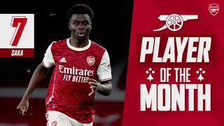 The best of Bukayo Saka | Arsenal Player of the Month for December 2020